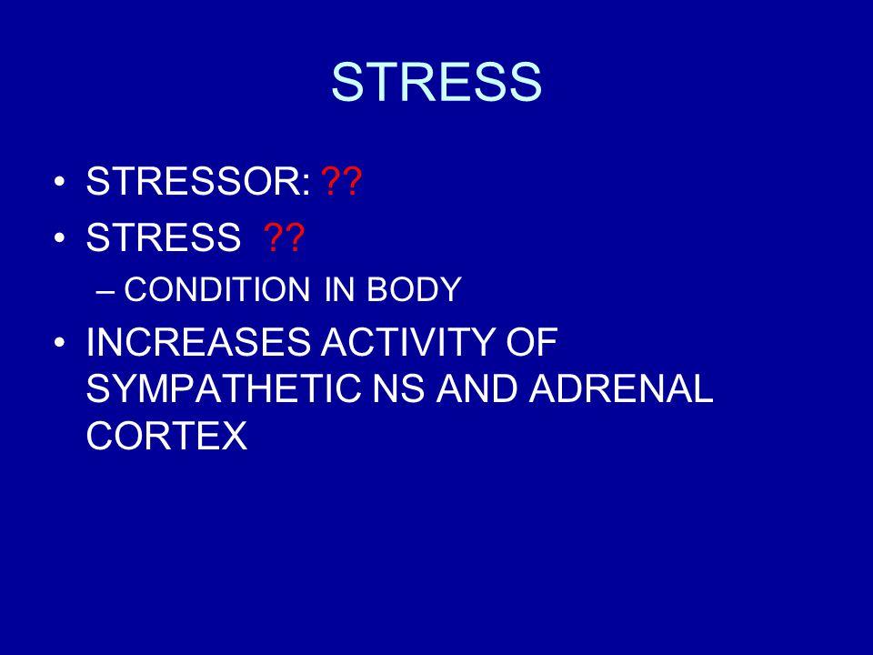 STRESS STRESSOR: STRESS