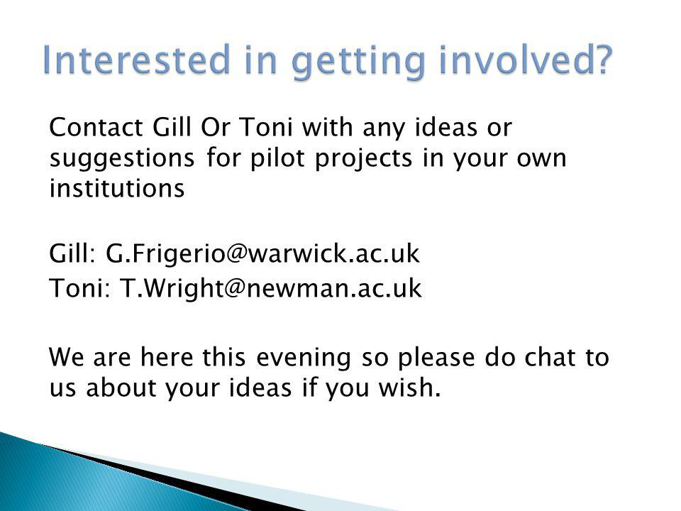 Interested in getting involved