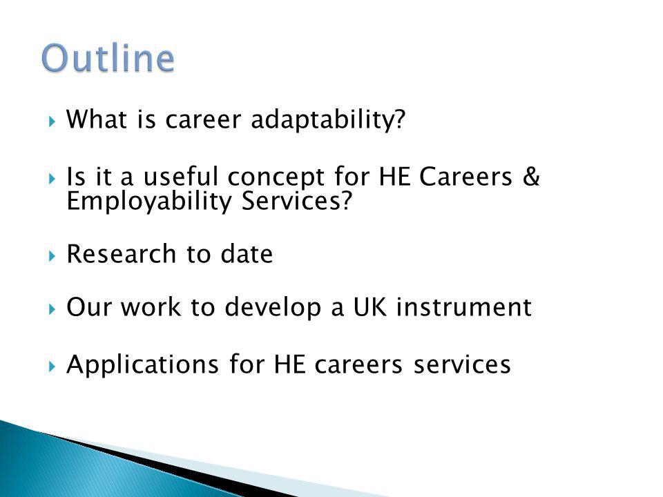 Outline What is career adaptability