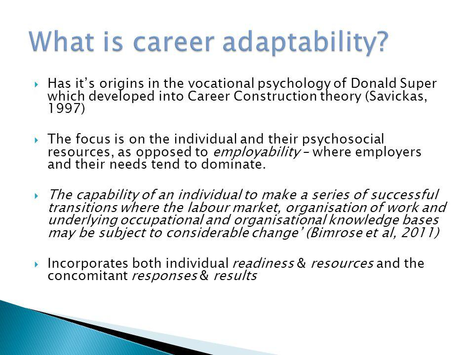 What is career adaptability