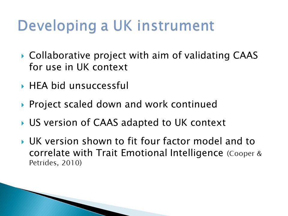 Developing a UK instrument