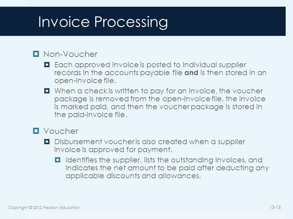 Invoice Processing Non-Voucher Voucher