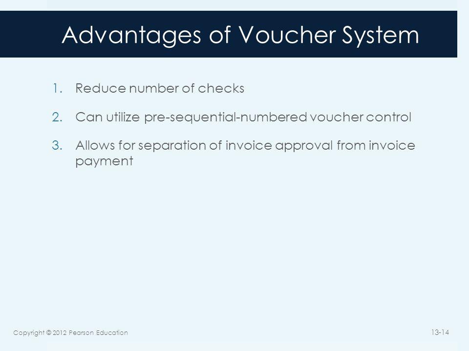 Advantages of Voucher System