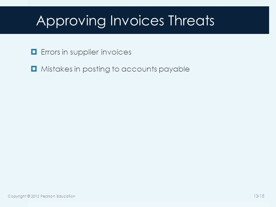 Approving Invoices Threats