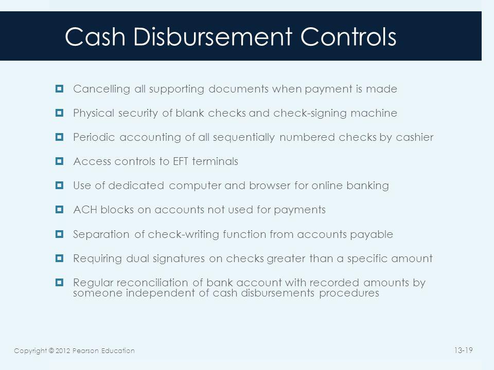 Cash Disbursement Controls