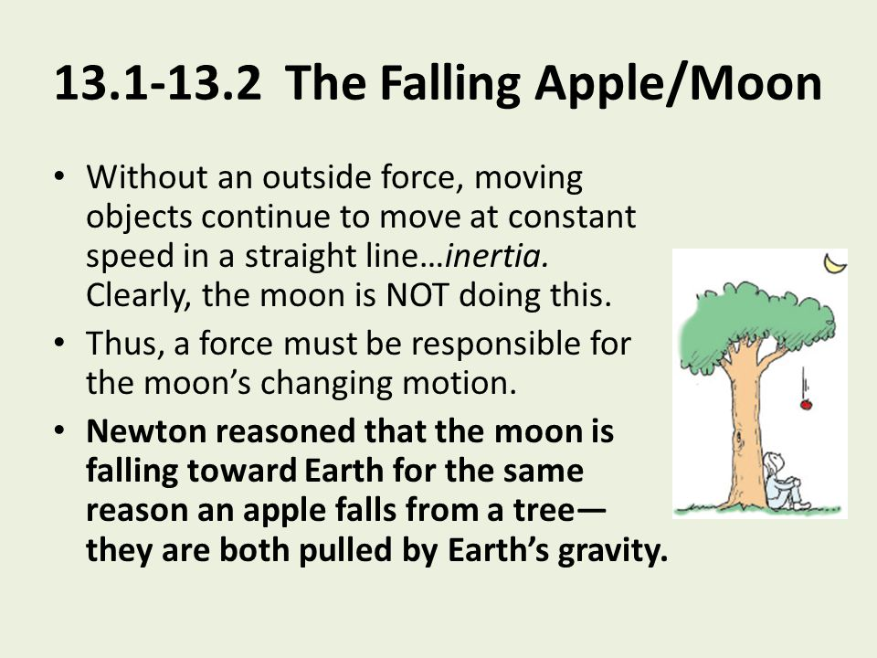 13.1-13.2 The Falling Apple/Moon