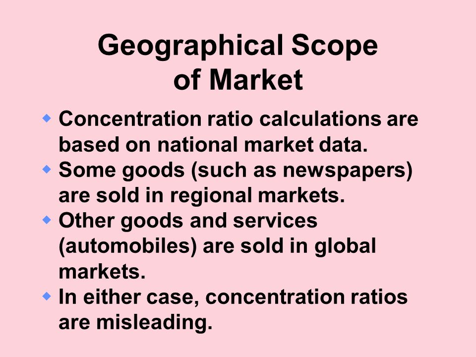 Geographical Scope of Market