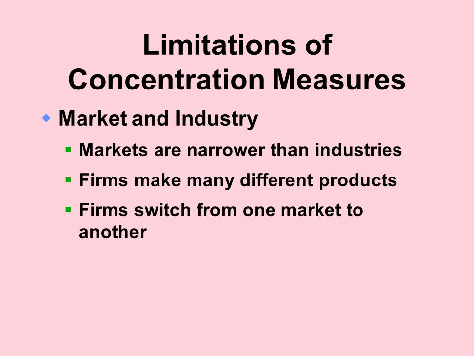 Limitations of Concentration Measures