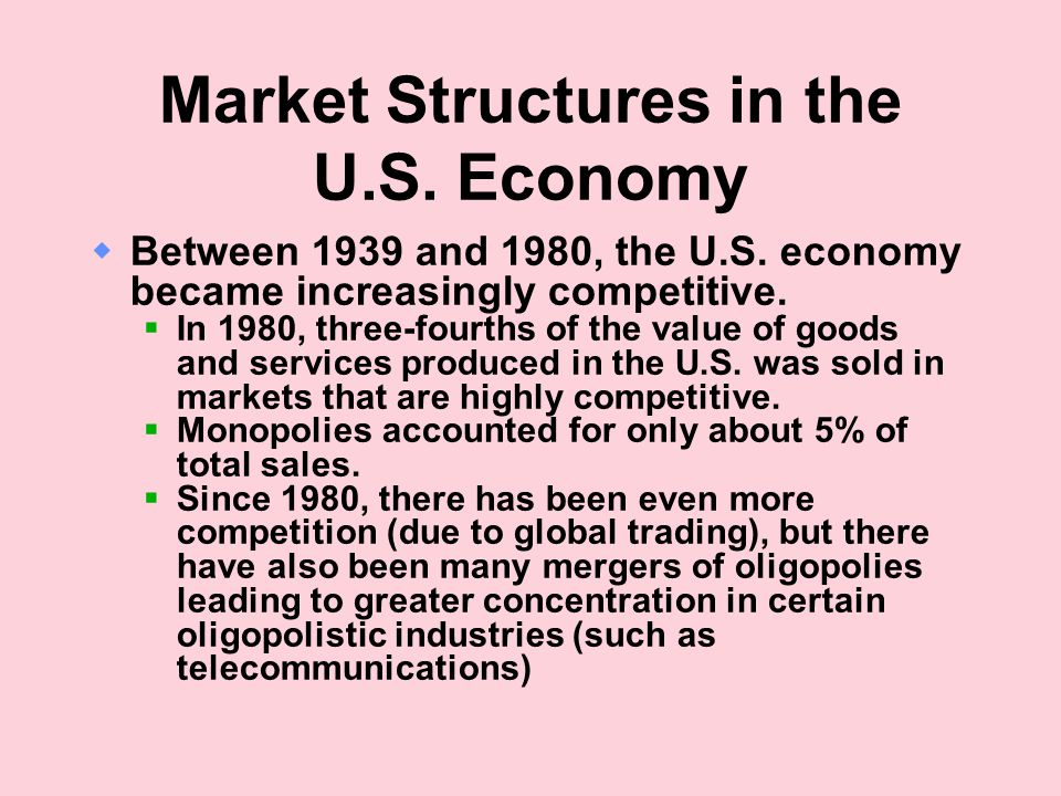 Market Structures in the U.S. Economy