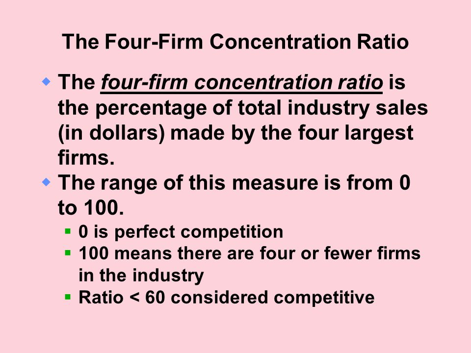 The Four-Firm Concentration Ratio