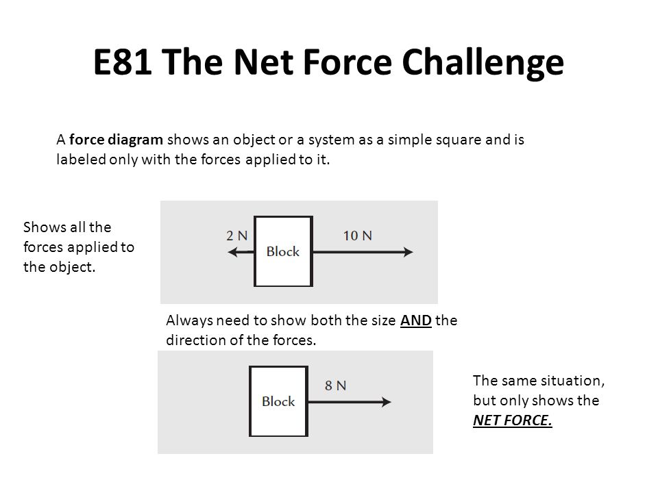 E81 The Net Force Challenge