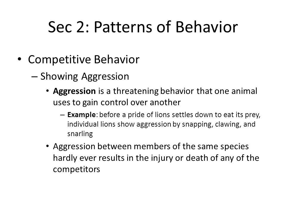 Sec 2: Patterns of Behavior