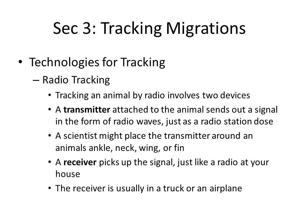 Sec 3: Tracking Migrations