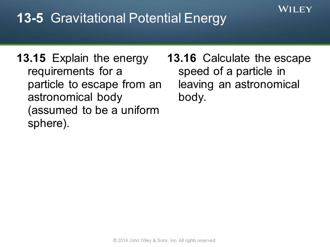 13-5 Gravitational Potential Energy