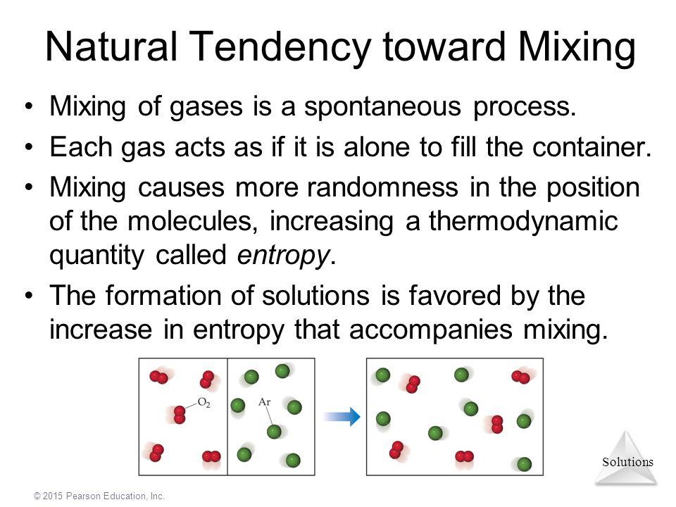 Natural Tendency toward Mixing