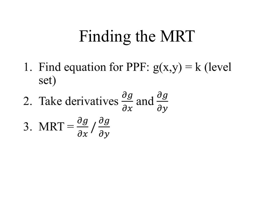 Finding the MRT