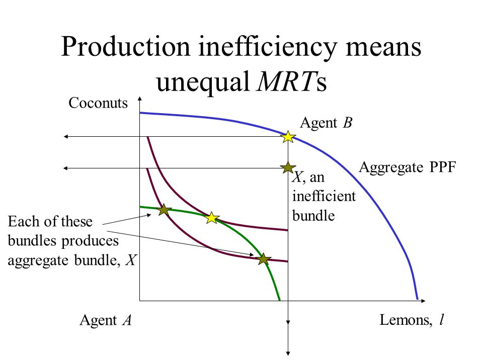 Production inefficiency means unequal MRTs