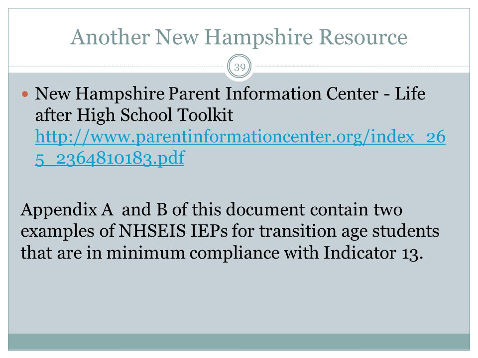 Another New Hampshire Resource