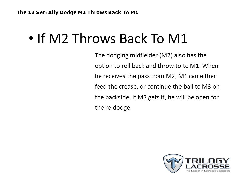 The 13 Set: Ally Dodge M2 Throws Back To M1