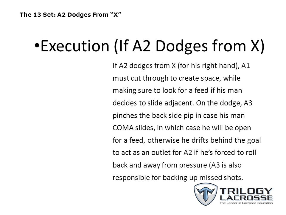 Execution (If A2 Dodges from X)