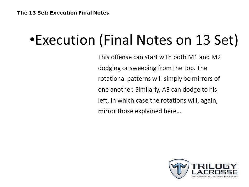 Execution (Final Notes on 13 Set)