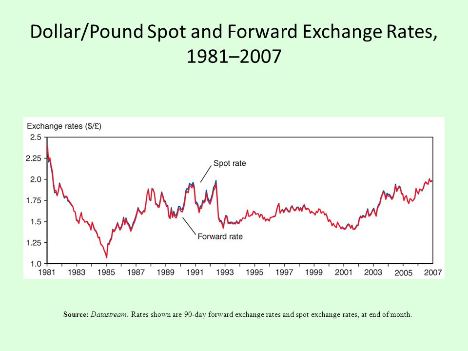 Dollar/Pound Spot and Forward Exchange Rates, 1981–2007