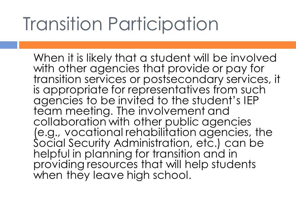Transition Participation