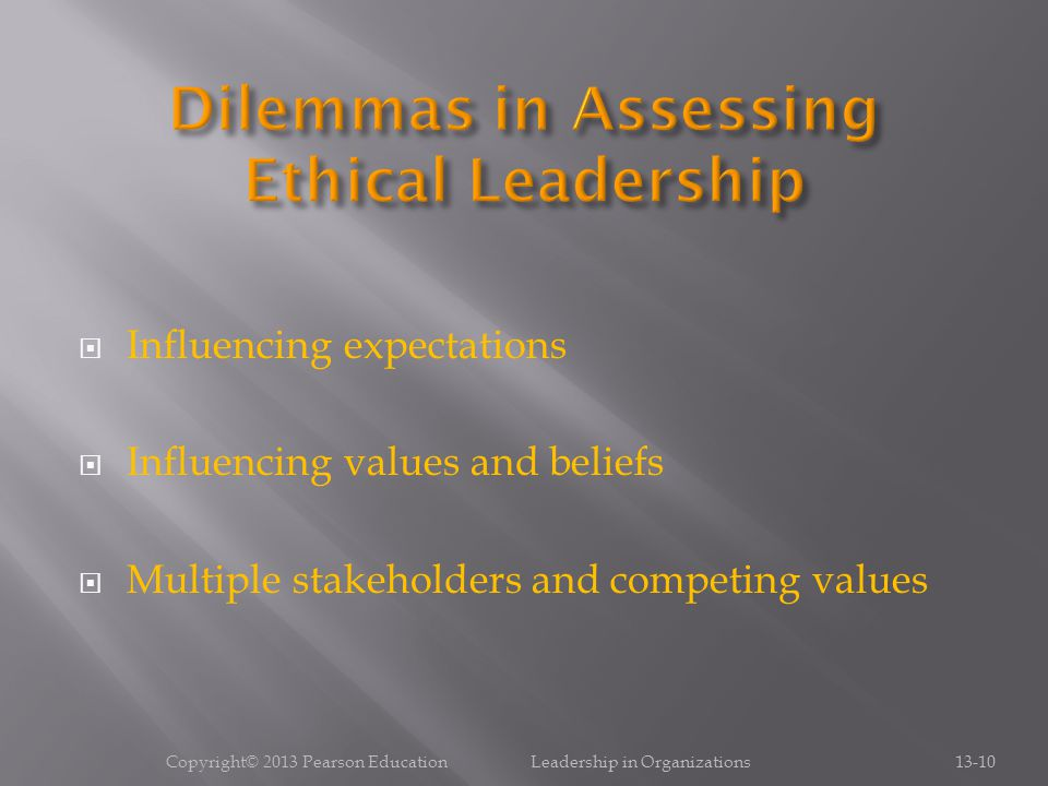 Dilemmas in Assessing Ethical Leadership