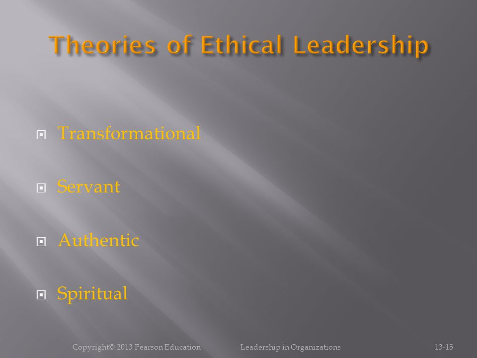 Theories of Ethical Leadership