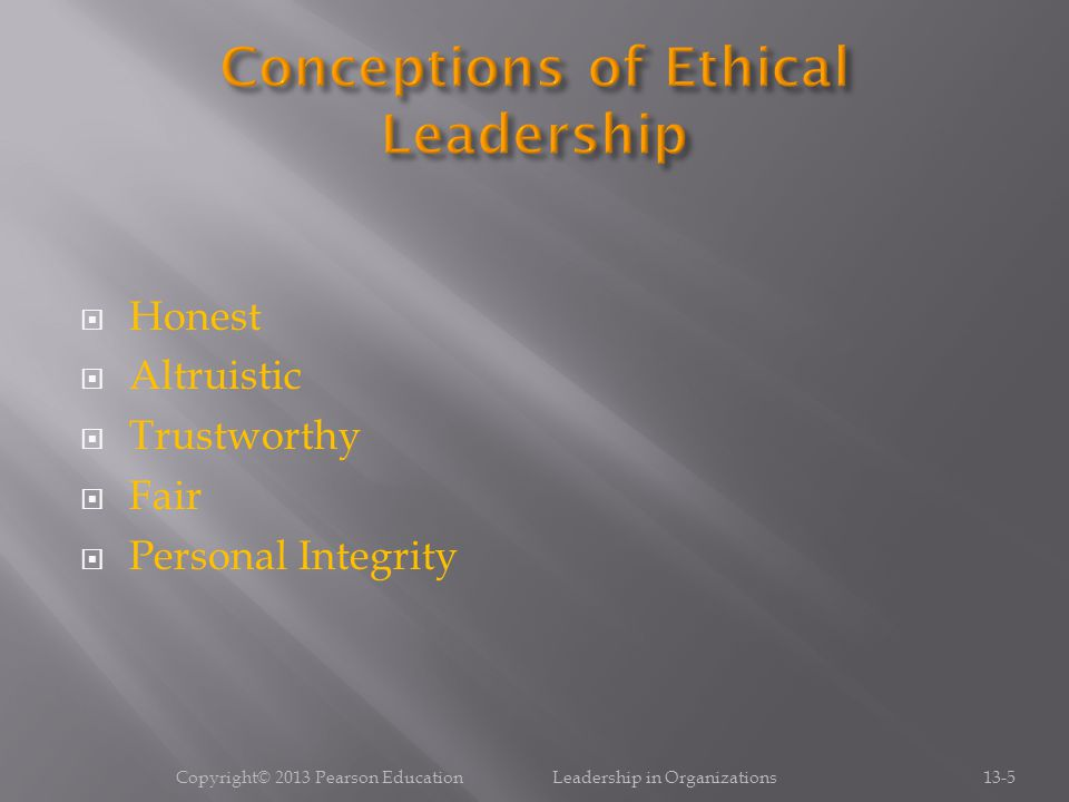 Conceptions of Ethical Leadership