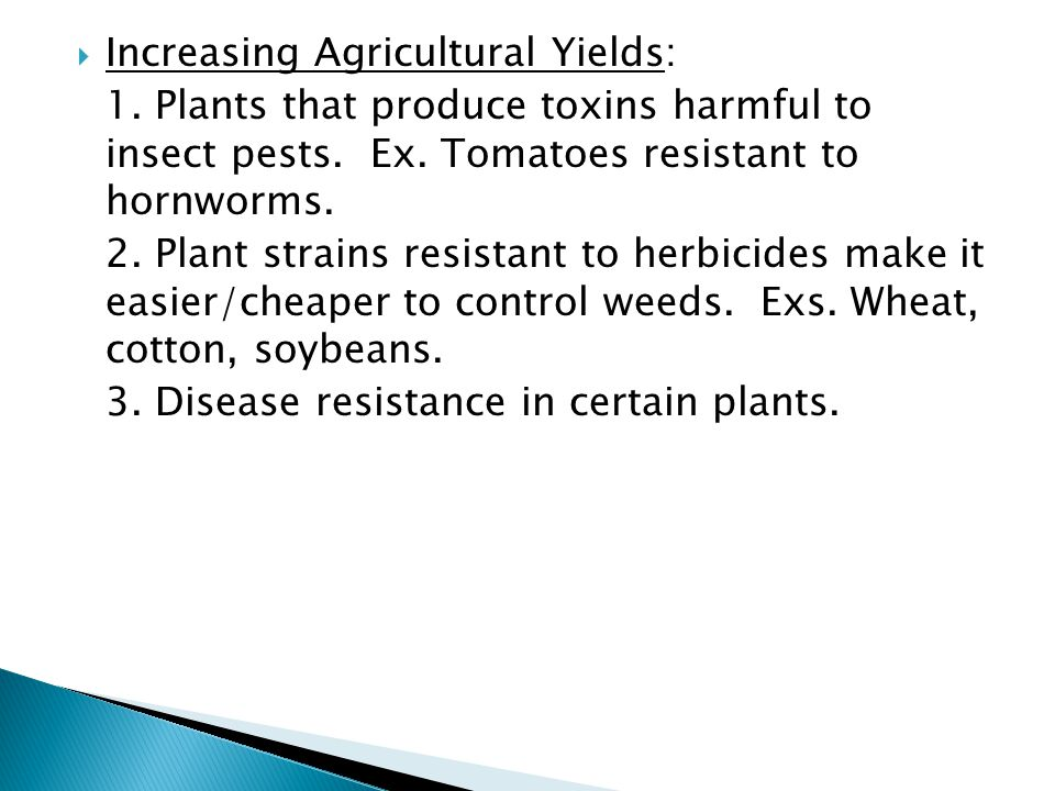 Increasing Agricultural Yields: