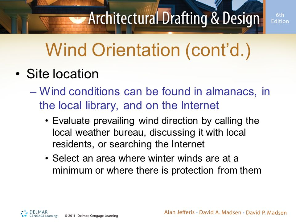 Wind Orientation (cont'd.)