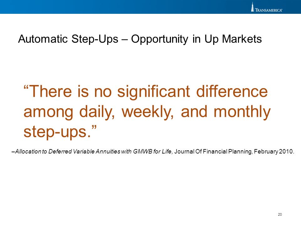 Automatic Step-Ups – Opportunity in Up Markets
