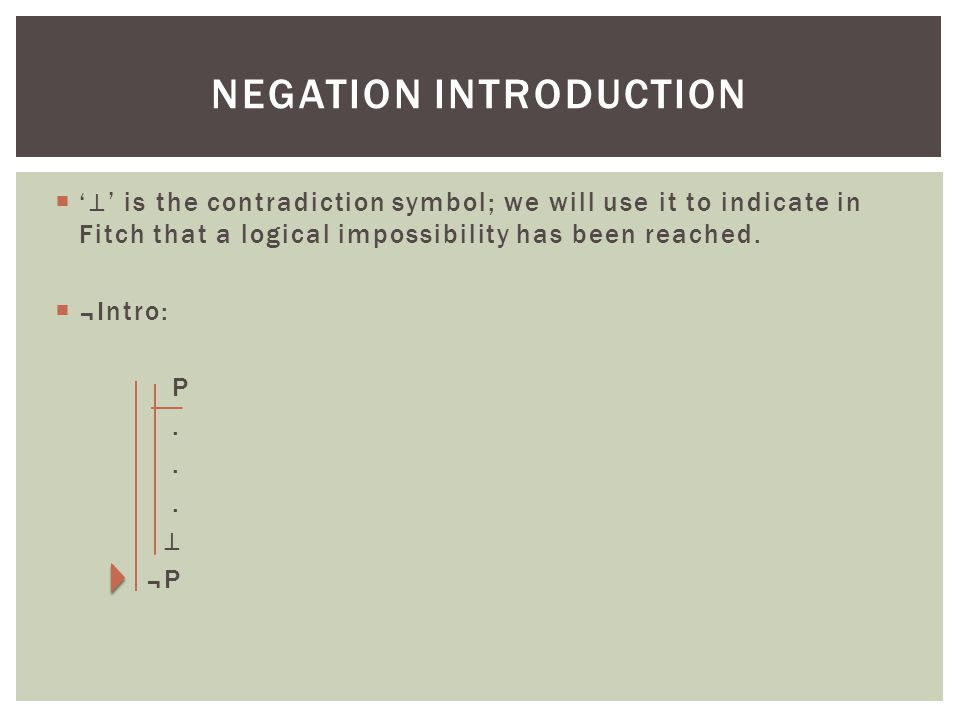 Negation introduction