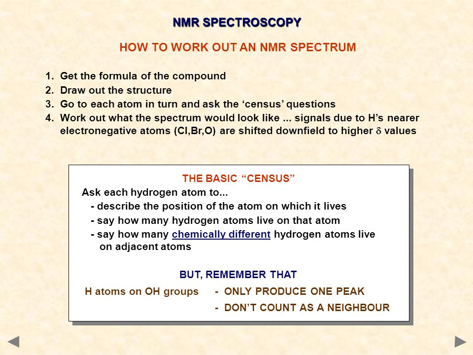 HOW TO WORK OUT AN NMR SPECTRUM