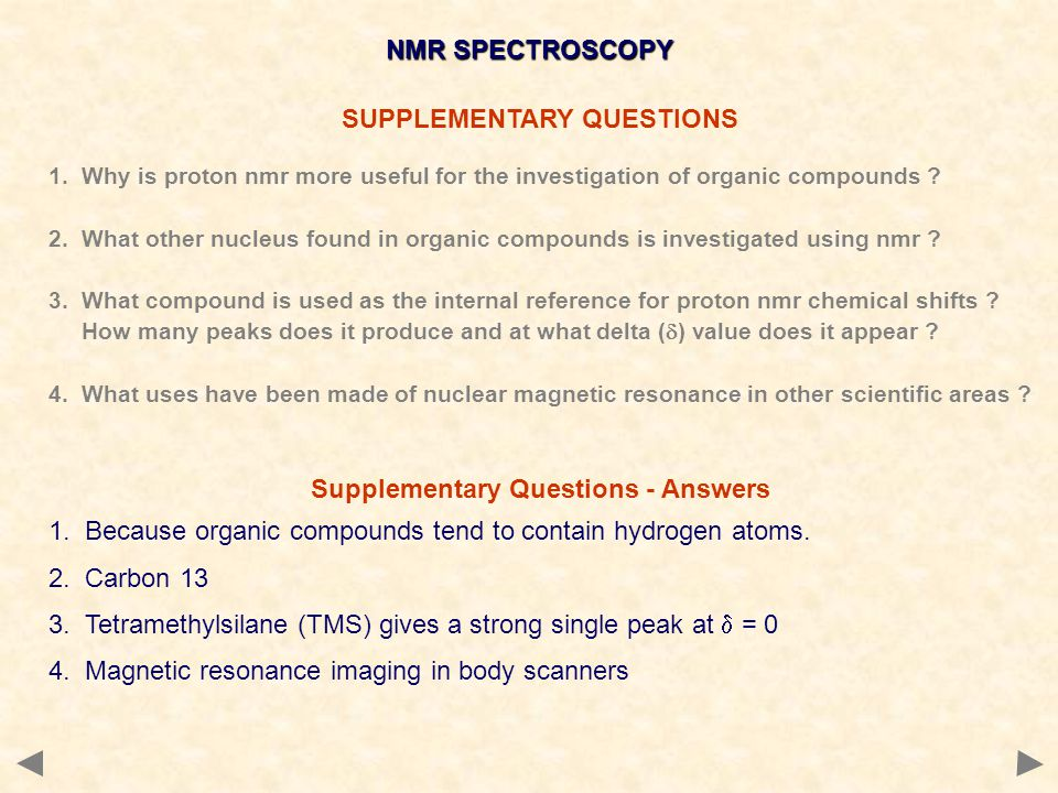 SUPPLEMENTARY QUESTIONS Supplementary Questions - Answers