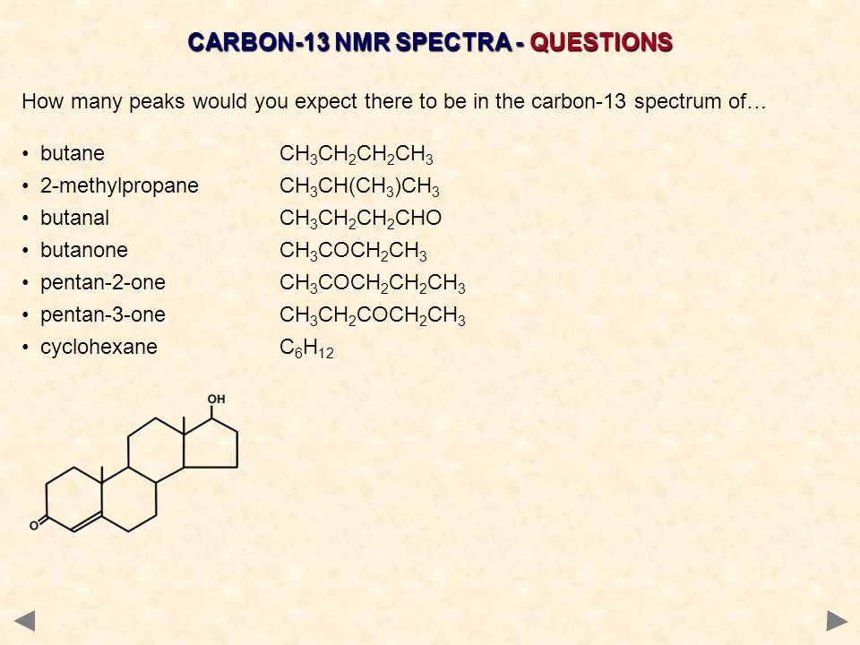 CARBON-13 NMR SPECTRA - QUESTIONS