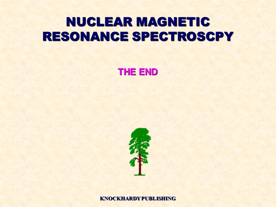 NUCLEAR MAGNETIC RESONANCE SPECTROSCPY KNOCKHARDY PUBLISHING