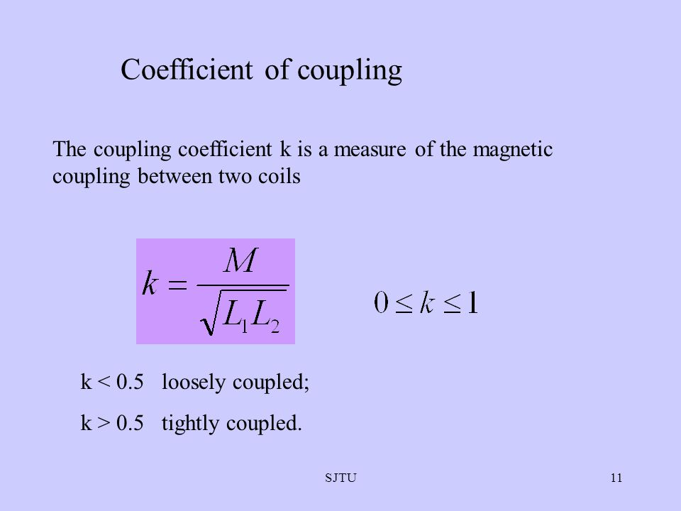 Coefficient of coupling
