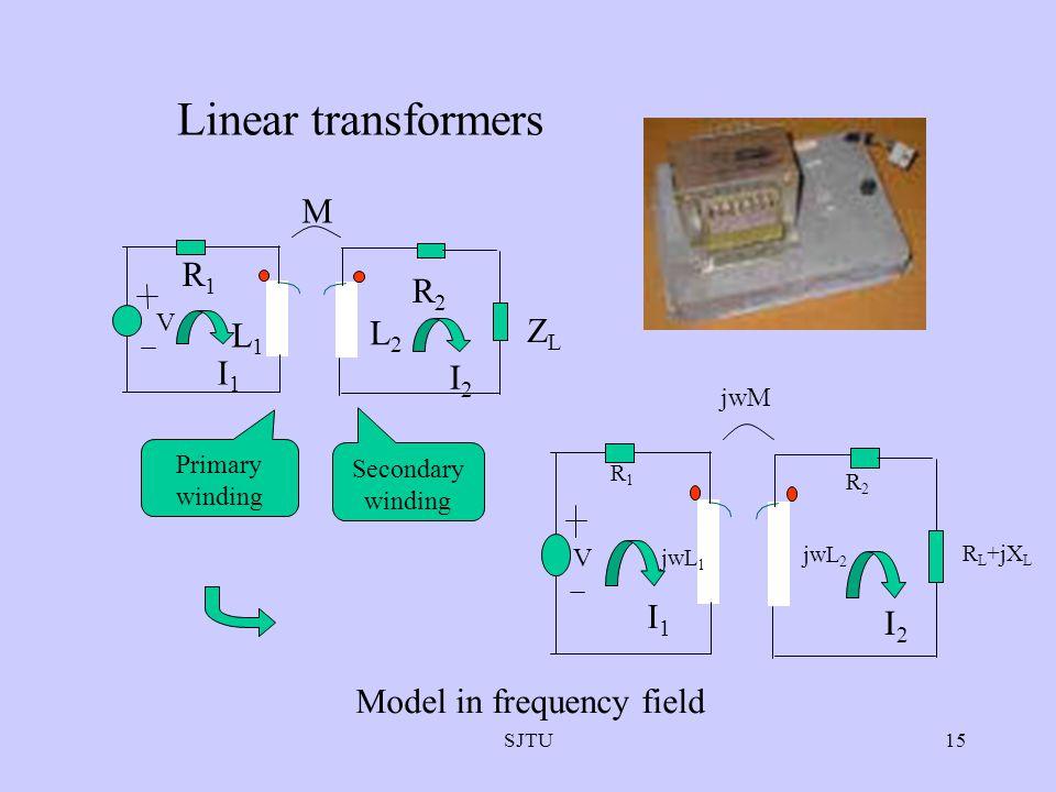 Linear transformers M R1 R2 ZL L1 L2 I1 I2 I1 I2