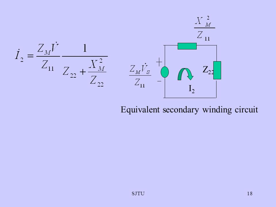 Equivalent secondary winding circuit