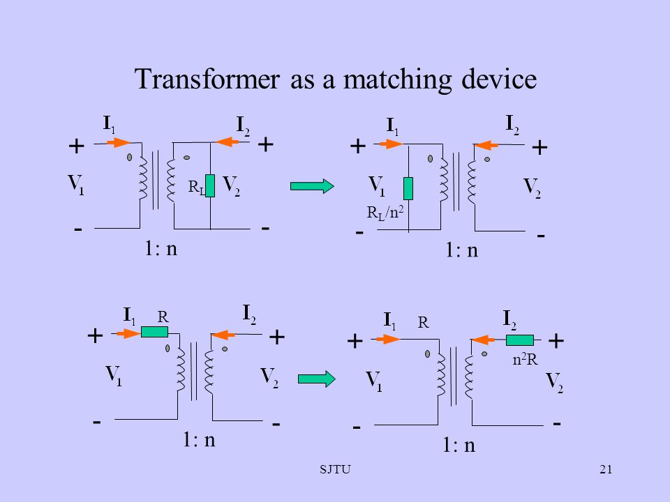 Transformer as a matching device