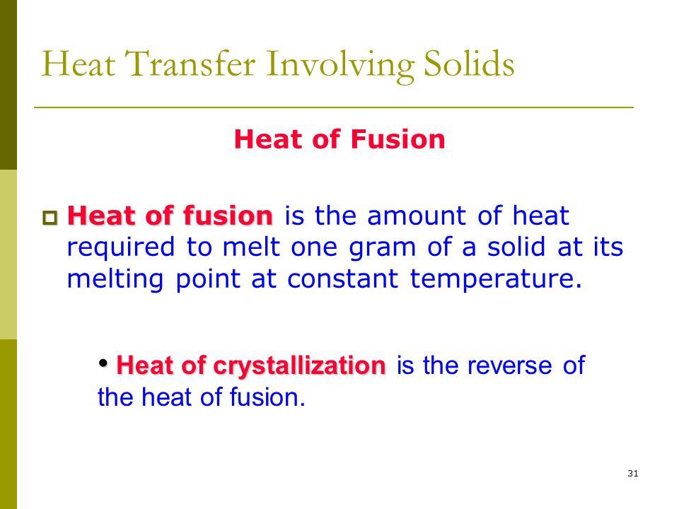 Heat Transfer Involving Solids