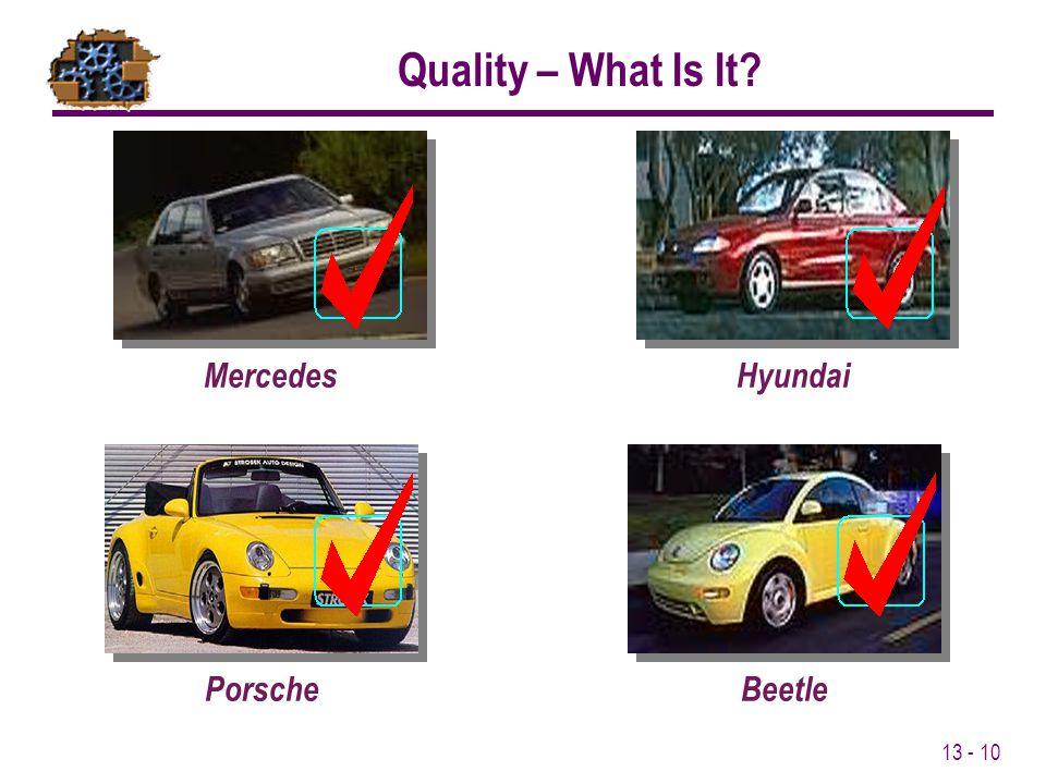Quality – What Is It Mercedes Hyundai Porsche Beetle