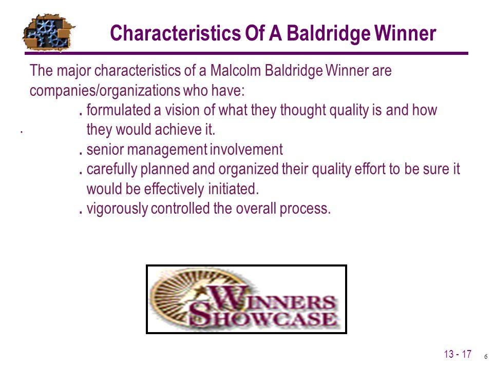 Characteristics Of A Baldridge Winner