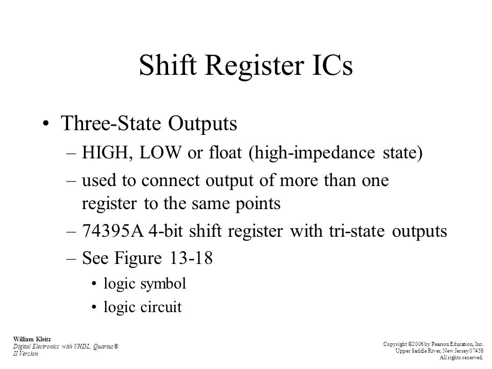 Shift Register ICs Three-State Outputs