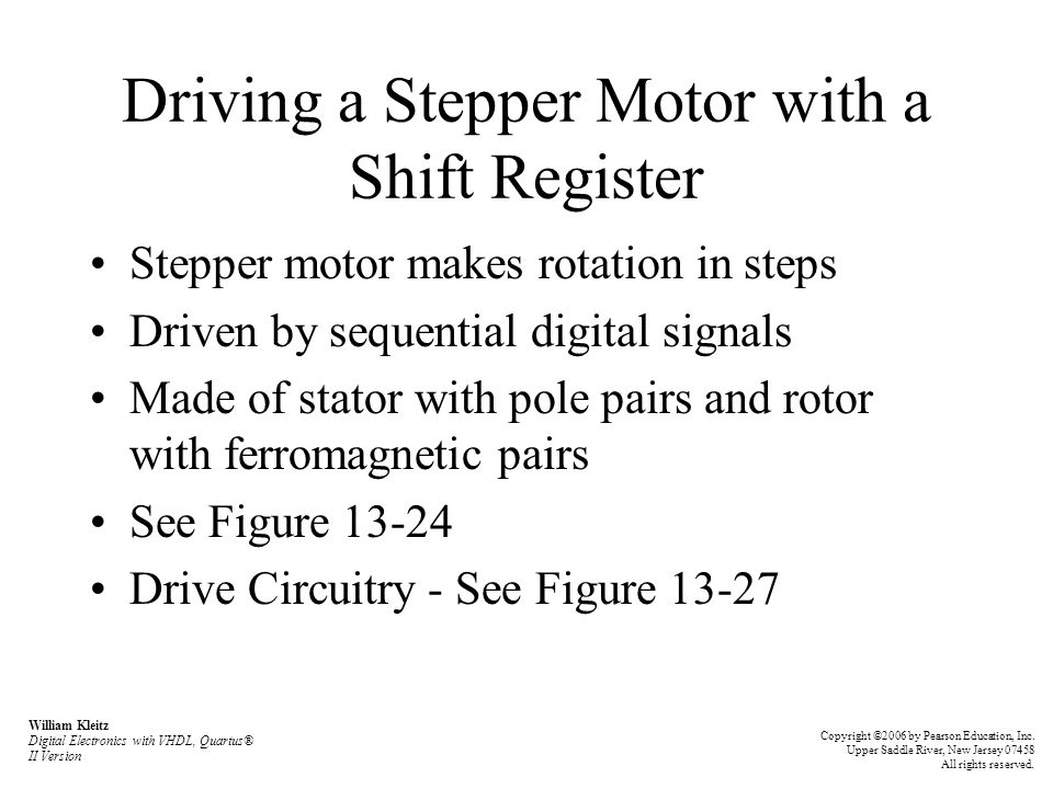 Driving a Stepper Motor with a Shift Register