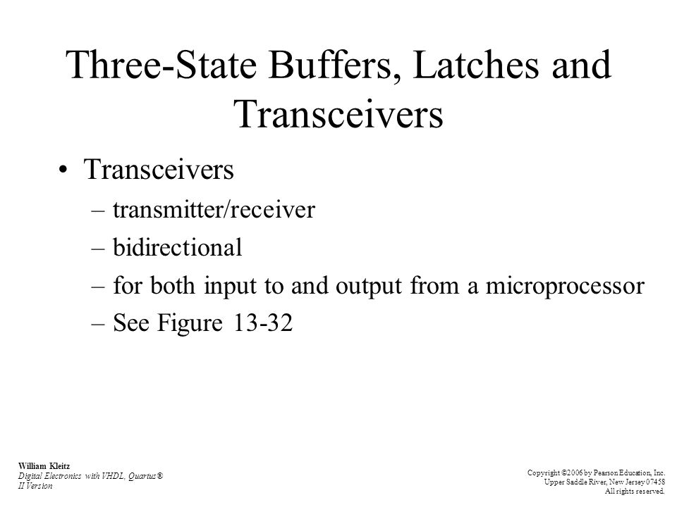 Three-State Buffers, Latches and Transceivers
