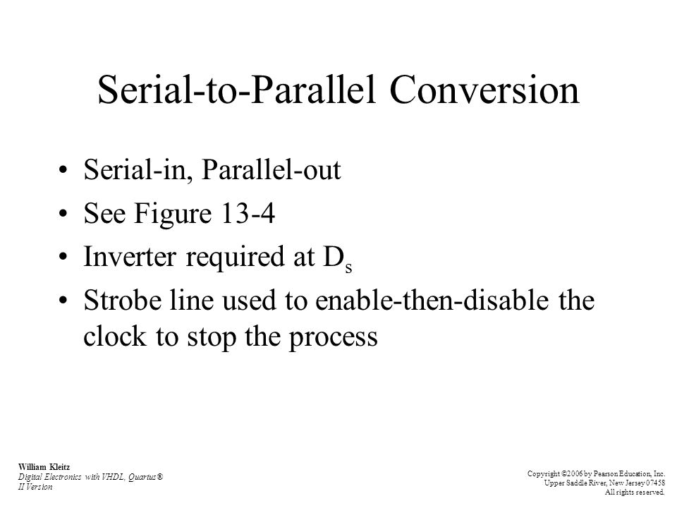 Serial-to-Parallel Conversion
