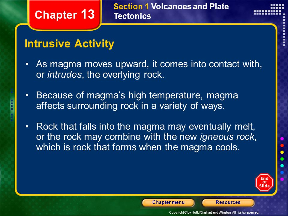 Chapter 13 Intrusive Activity